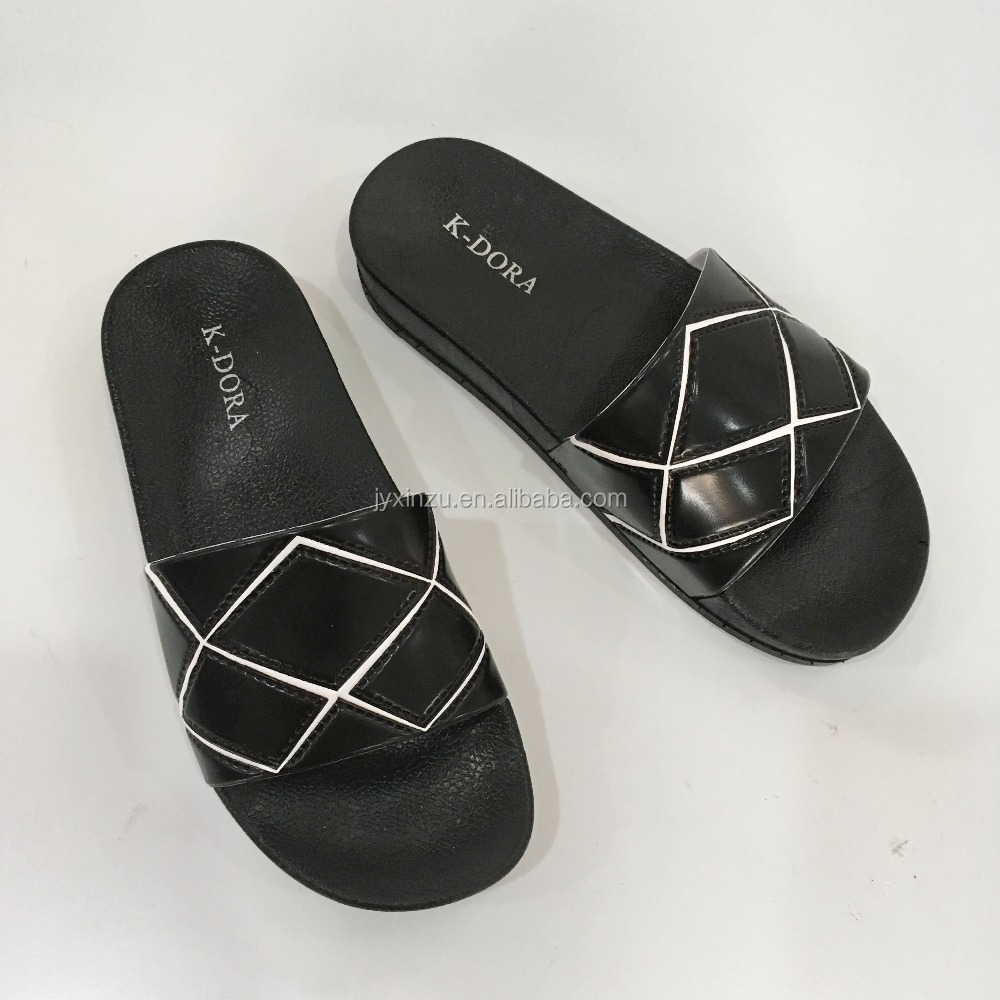 Summer New Leather Women Slippers Customer Designs PCU Shoes