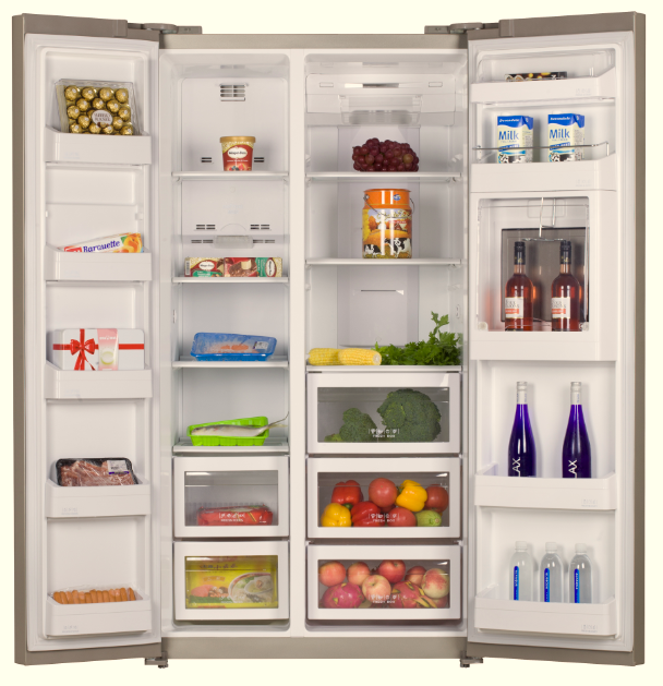582l side by side double door no frost refrigerator - Congelateur table top no frost ...