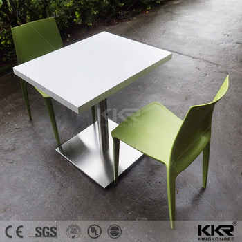 Acrylic Solid Surface Heart Shaped Cafe Style Tables And Chairs