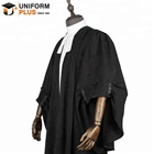 Solicitor barrister uniform gown and costume, lawyer robe