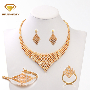 New arrivals fashion jewelry design indian gold necklaces jewelry sets