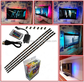 Multi Flexible Pre Strip Tv Foot Wire Backlight 5v Buy Led 2 Mounting Color One Light Strip Wth 5050 Rgb 4 Cut 3 Clips Powered Usb l3uFTJcK15