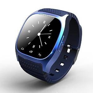 Waterproof Smartwatch M26 Bluetooth Smart Watch With LED Alitmeter Music Player Pedometer For Apple IOS Android Smart Phone Blue