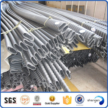 Black Prestressed Concrete Strand Post Tension Spiral Corrugated ...