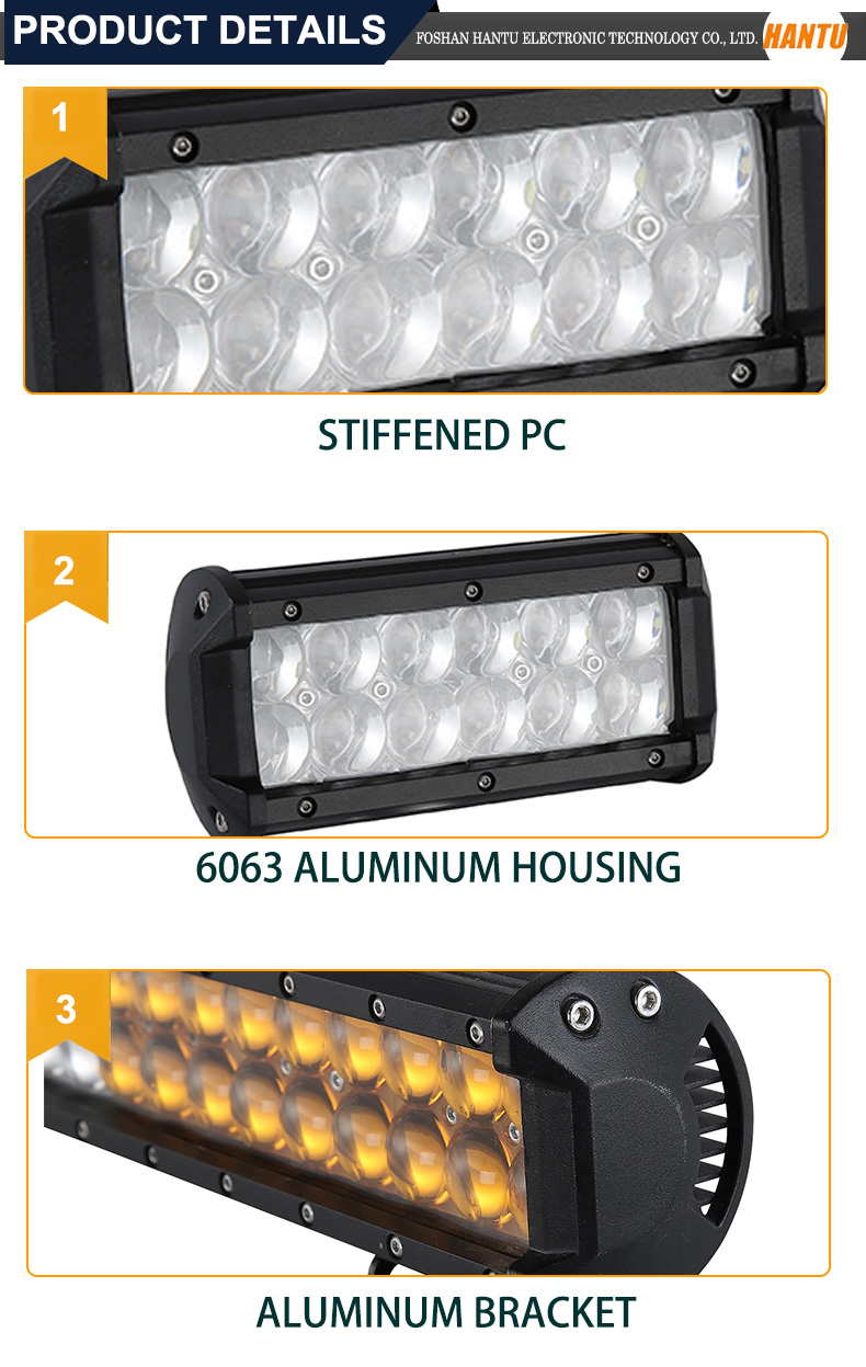 6.6 inch 36w double row led light bar