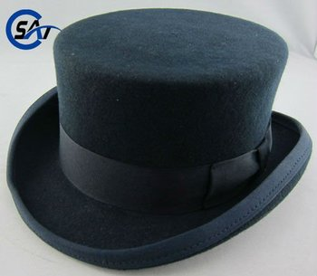 5a8b3ab9887 4 quot  high crown Deadman Top hat with Satin lining