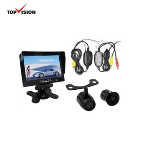 Wireless reverse system with 7'' digital car mirror monitor