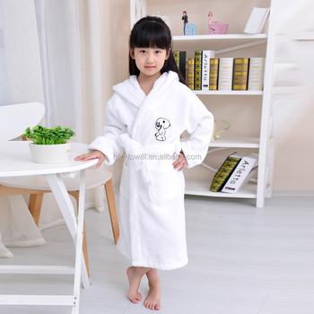 Wholesale White Coral Fleece Girl s Bathrobe - Buy Fleece Bathrobe ... c47383050