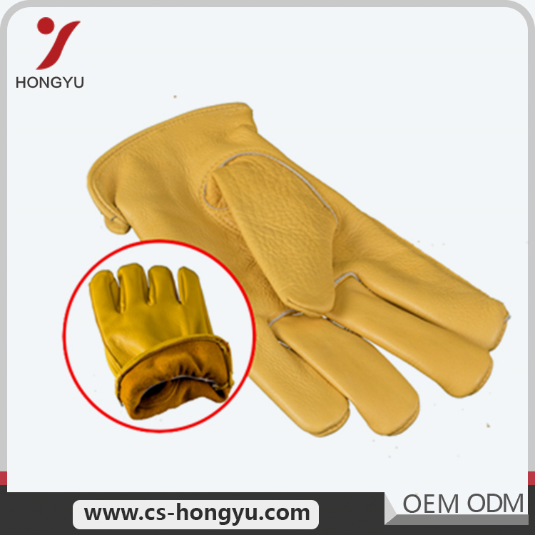 Factory Directly cow split protective leather wholeslae welding driving gloves