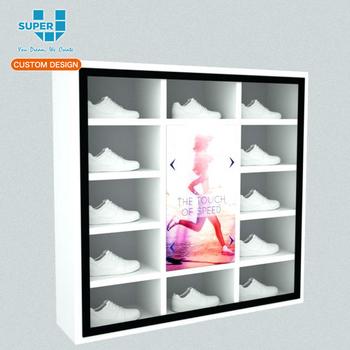 Lækker Kundenspezifischer Moderner Mode-sneaker-shop-glas Führte Schuh BI-32