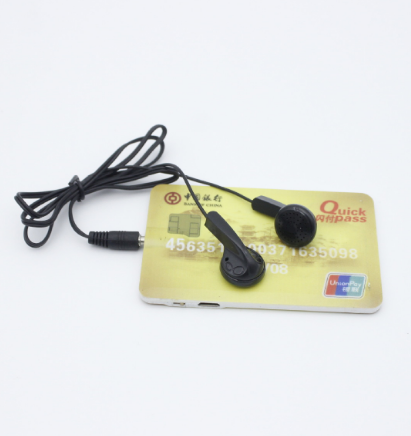 Hotsale Customized Ultrathin business card mp3 <strong>player</strong> good price