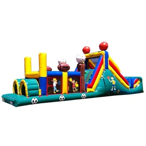 Outdoor toys giant inflatable obstacle course for kids , inflatable floating obstacle for commercial