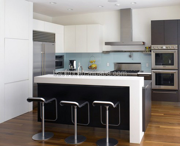 High Quality White Simple Kitchen Furniture Small Bar Counter Designs