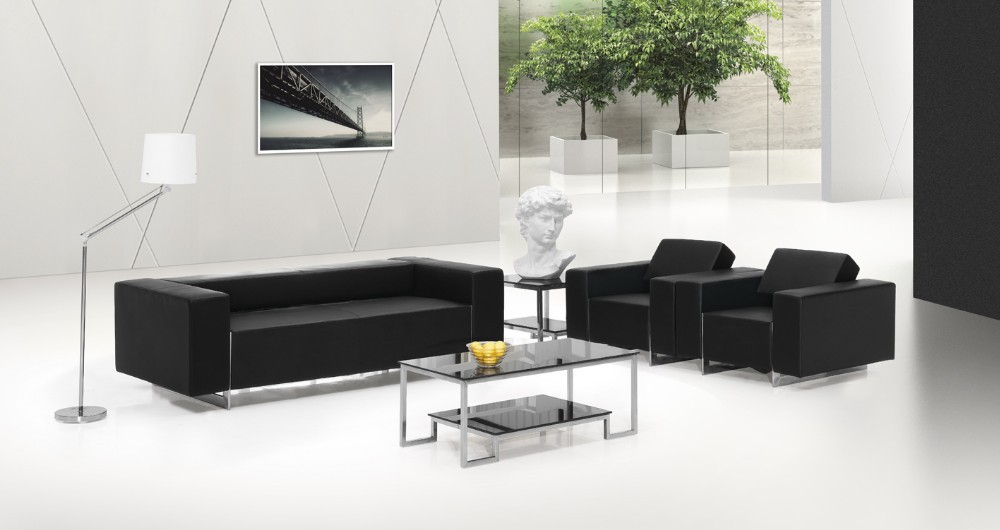 Design moderno escrit rio sof de couro preto sof do for Design moderno e minimalista