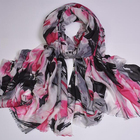 No Minimum Custom Design Digital Printed Modal Cashmere Blend Scarf