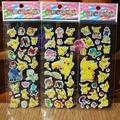 30pcs lot Pokeball Sticker Pikachu Cartoon 3D Model PokeballToy Pikachu Sticker Children Kids Baby Best Gift