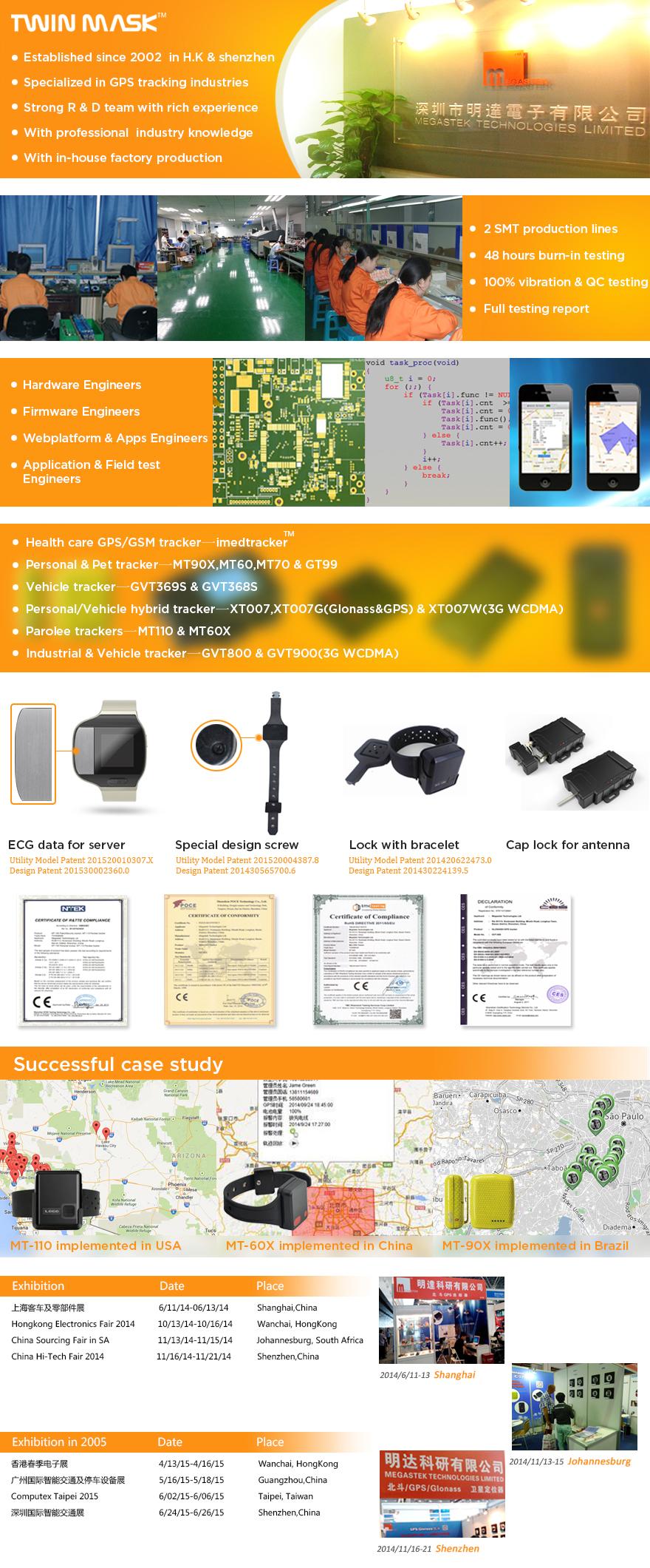 Gsm/gprs/gps draagbare voertuig tracker met 3g accelerometer, Cut externe uitschakelen alarm