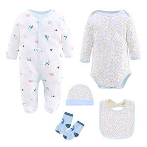 3-12Months Age Group Garment Infant clothes Outfits Baby Boys Clothing Sets Baby Bodysuit 5 in 1 Set