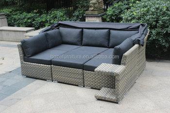 plastic rattan corner sofa with canopy nice rattan sofa set