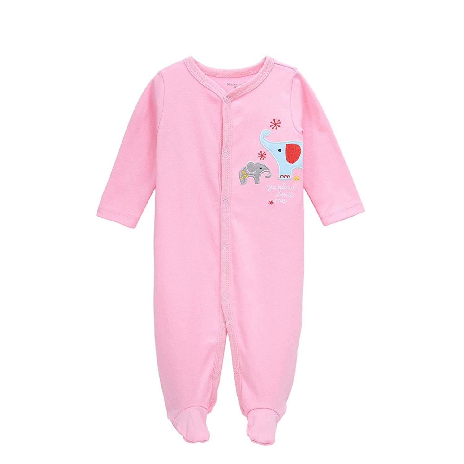Get Quotations · Quoxiao Footie Pajamas Baby Boys Girls Sleepers 100% Soft  Cotton Coveralls Size 0-12 cb76df7ca