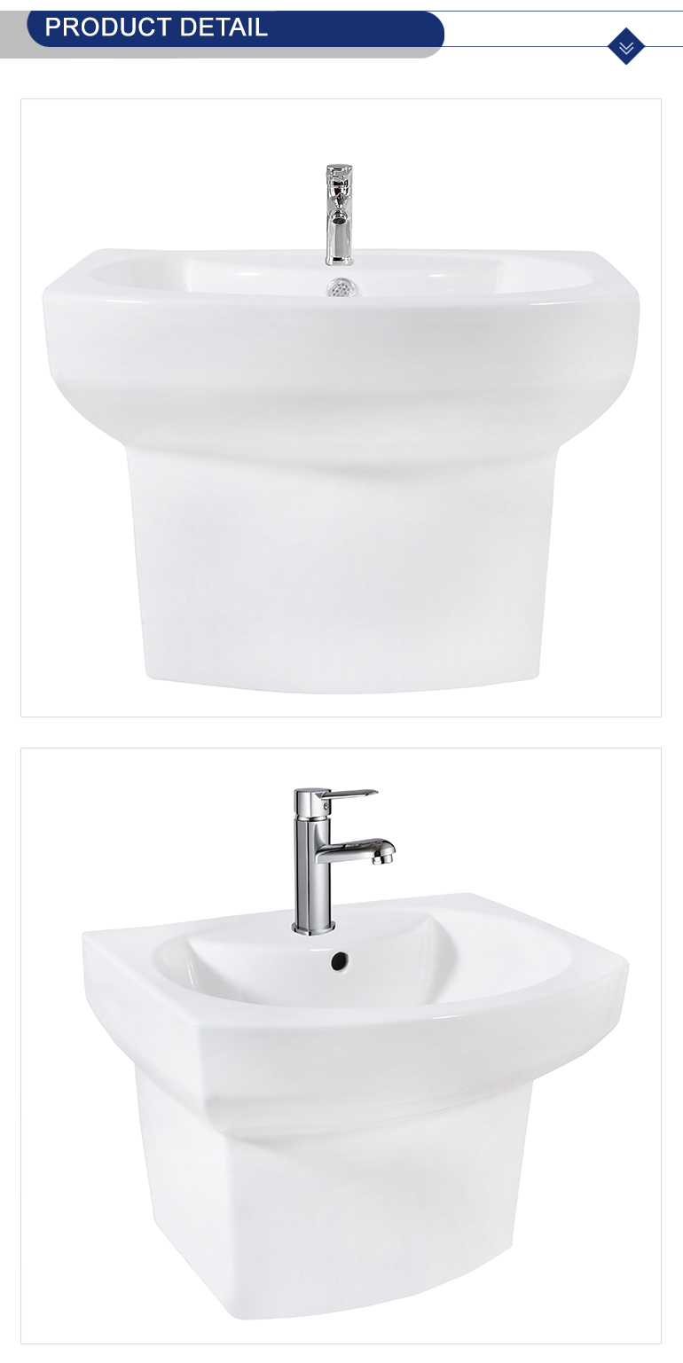 Alibaba sanitary wares supplier popular design big size tiles wall hung basin for top selling