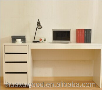 HX MZ775 Study Table With Side Filing Cabinet Wooden Desk