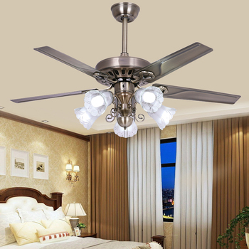 48 5 Leaf Fan Chandelier Light Antique Retro European Style Ceiling Lights
