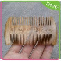 Handmade beard comb wood 'ynks hair brush