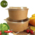 100% Food Grade Disposable Kraft Paper PLA Salad Bowl