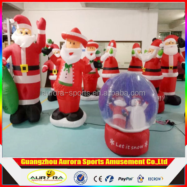 Factory directly new finished model inflatable santas costume for christmas decoration
