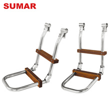 Ladders manufacturer cheap custom metal wide step foldable platform ladder sale