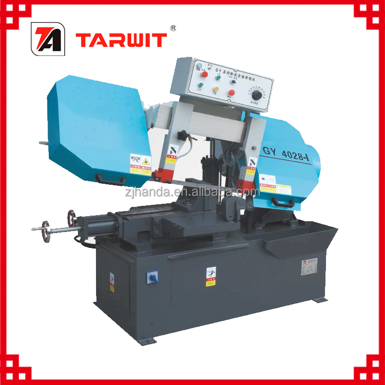 Hinge Horizontal NC controlled band saw machine for low price