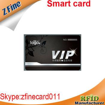 PVC Carte DIDENTITE De Visite Intelligente NFC Fond Noir