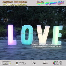 Luce led all'ingrosso lettere d'amore