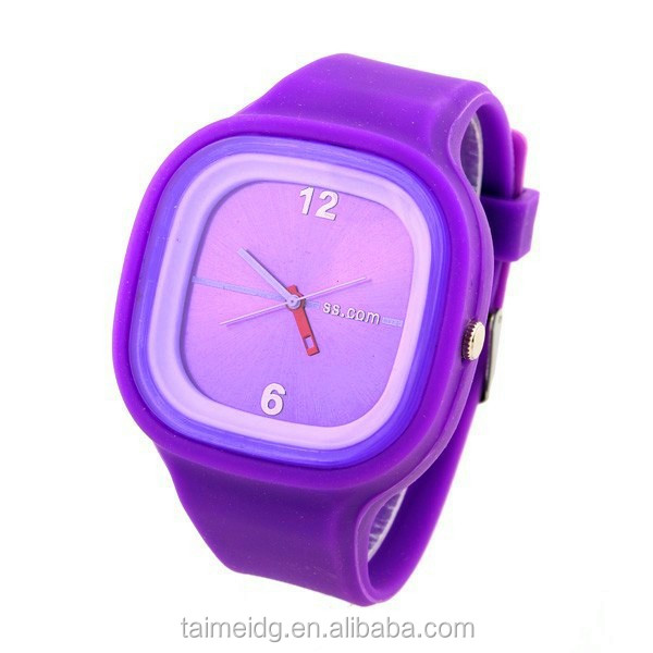 Alibaba express fashion jelly watch silicone