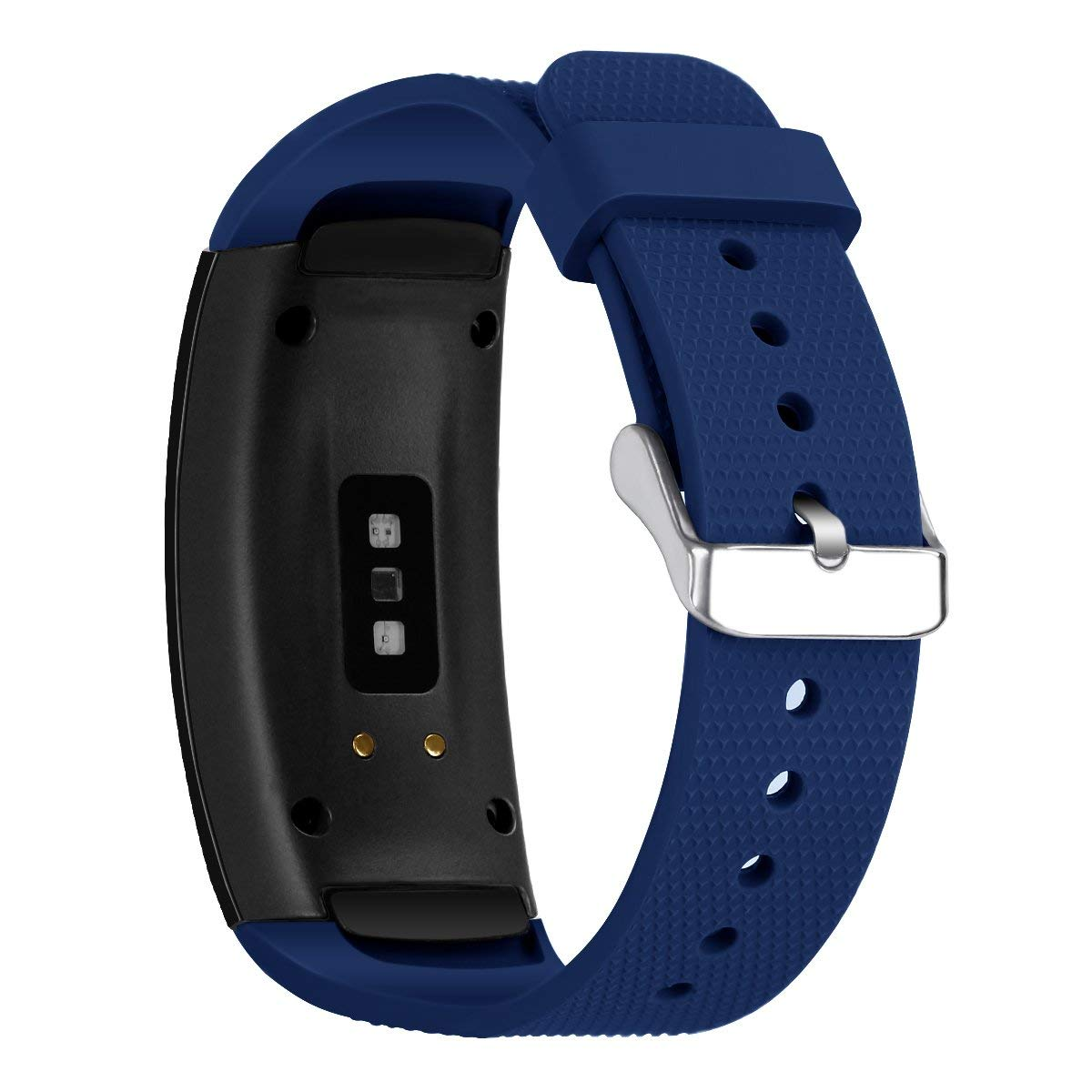 Silicone Band for Samsung Gear Fit 2, Yemoo Breathable Sport Wristband Replacement Band for Samsung Gear Fit 2 / Fit 2 Pro Navy