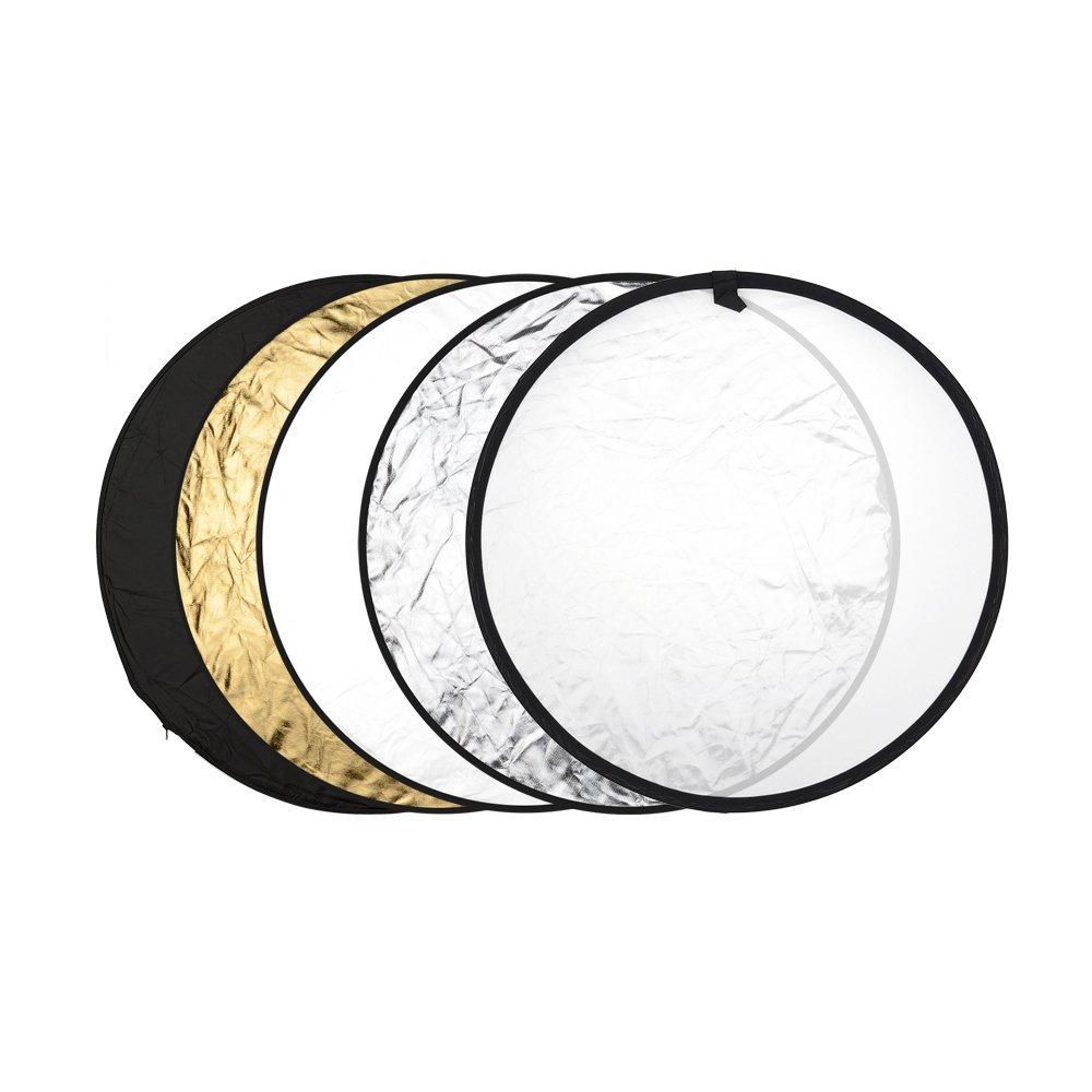 SPCR22K Translucent White and Black SP Studio 22-Inch 5-In-1 Reflector Kit Gold Silver