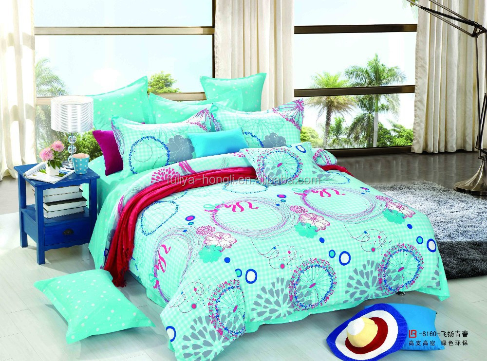 cotton handloom bedsheets, 100% cotton flower printed bedsheets