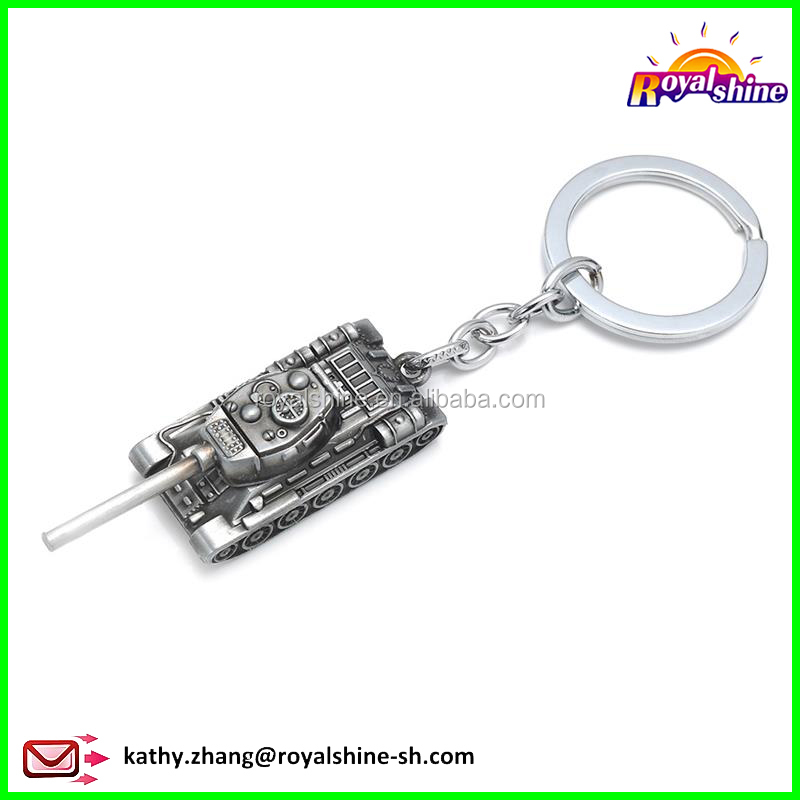 Manufacturers Hot Sale Game World of Tanks Model Key Chain