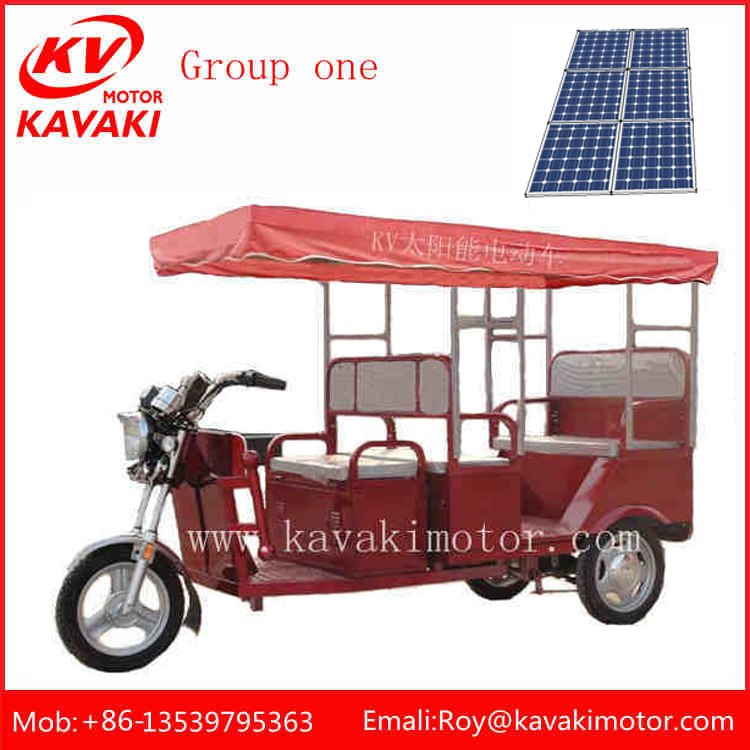 solar pannel tricycle, 2016 india Electric auto battery e rickshaw