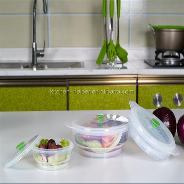 Silicone Salad Bowl/portable Silicone Salad Bowl/salad Bowl