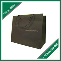 APPREAL INDUSTRY ART PAPER CLOTHING PACKAGING BAGS WITH HOT STAPPING LOGO BOTH SIDE
