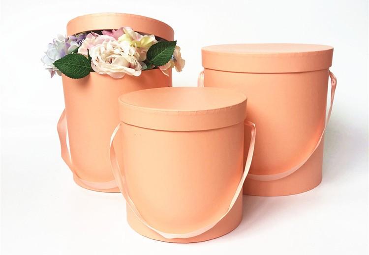 Sang trọng tùy chỉnh in ấn thiết kế các tông hộp tròn hộp hoa