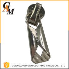 Zinc alloy custom logo zipper slider metal handbag zipper puller