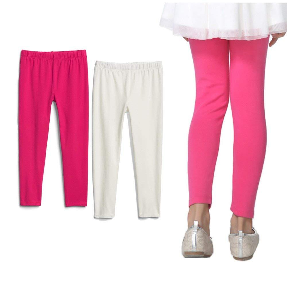 e9ba30222ec Get Quotations · Bear Mall Toddler Girls Leggings Girls Black Leggings Baby Girls  Leggings 2-Pack   3