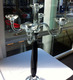 black pole crystal table candelabra for wedding