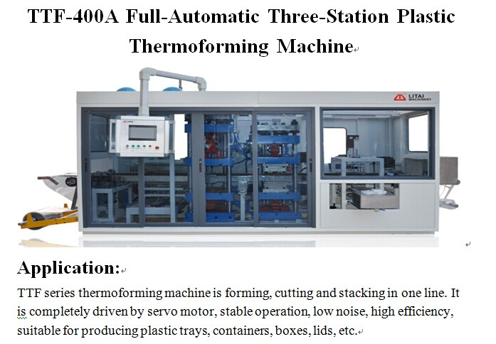 China plastic machine type disposable plate thermoforming machine with three station