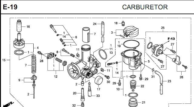 Generaci U00f3n De Carburador Para Motocicleta Honda Cbf 16100-ktt-901