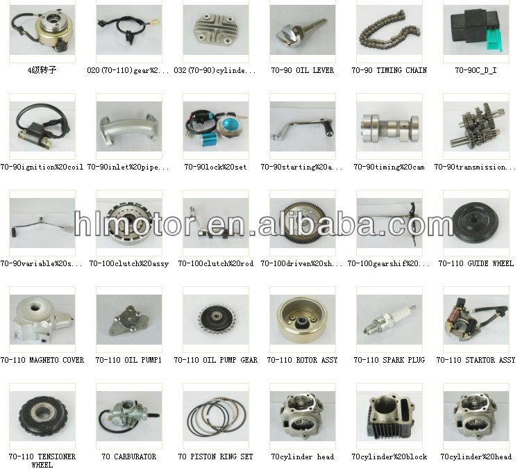 50cc 70cc 100cc SPARE PARTS ENGINE Motorcycle engine parts
