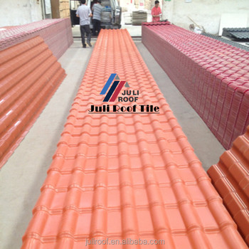 Spanish Brick Red Synthetic Resin Asa Pvc Roof Tiles